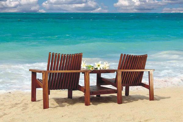 金丝柚木椅联体沙发椅 - 奈奥户外家具