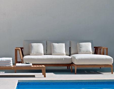 sunbrella户外柚木沙发坐垫